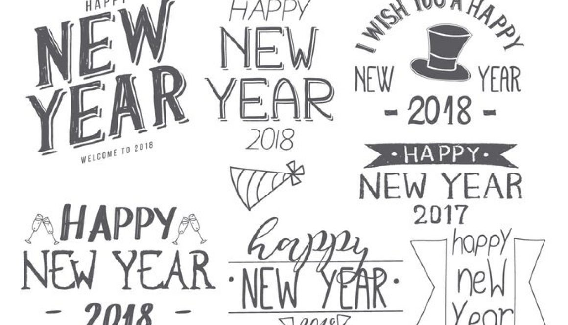 hand drawn new years 2018 brush collection photoshop brushes
